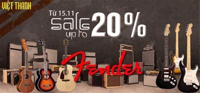 Giảm giá cực sock khi mua đàn Guitar Fender tại Việt Thanh từ ngày 15/11/2014