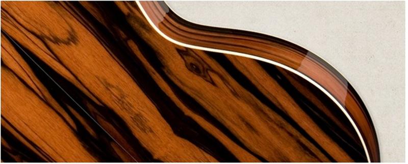 dòng đàn làm từ gỗ Macasar Ebony