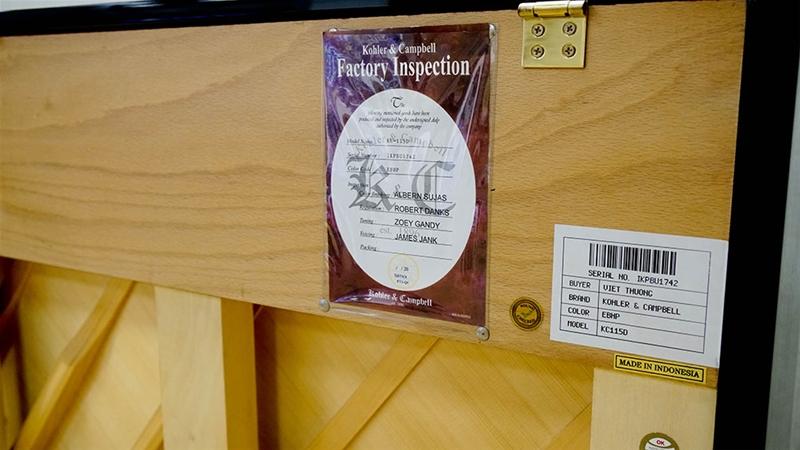 Đánh giá đàn piano Kohler & Campbell KC-115D