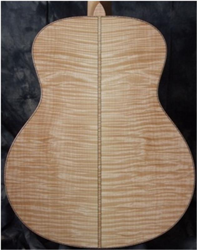 Mặt sau đàn guitar bằng gỗ Maple