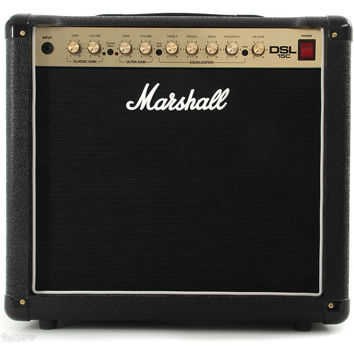 "Marshall DSL15C 1x12"" 15-Watt 2-Channel Tube Combo"