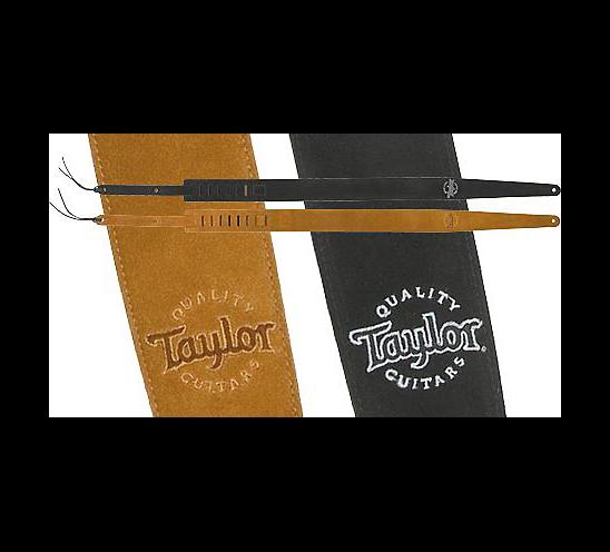Taylor Suede Guitar Strap Black