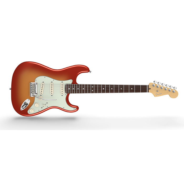 Fender American Deluxe Stratocaster®, Rosewood Fingerboard, Sunset Metallic